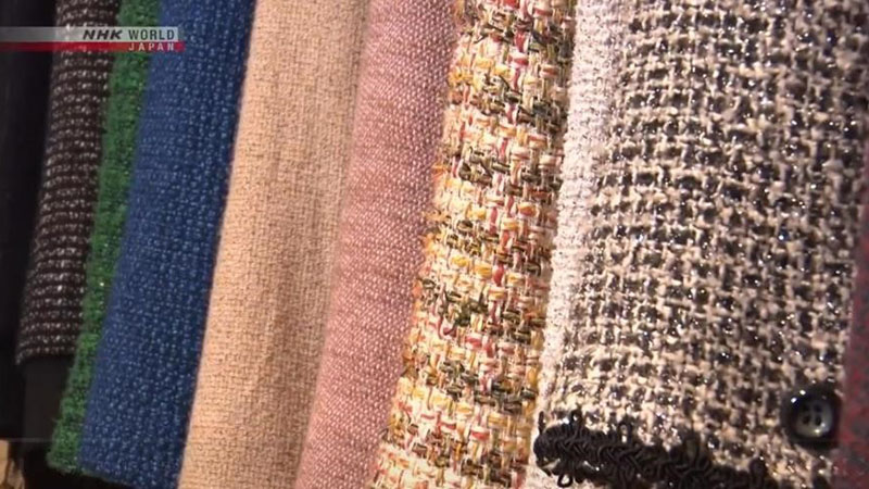 A close-up look at Nihon Homespun's famous fabrics reveal their incredible texture
