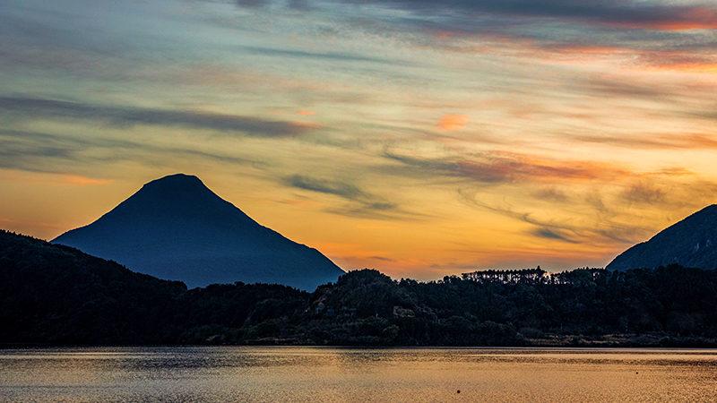Sunset of Mt. Kaimon, Kirishima-Kinkowan National Park