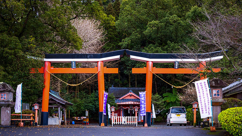Double Torii gates, Kawaminami Suwa shrine
