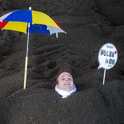A natural sand bath - Ibusuki, Kagoshima