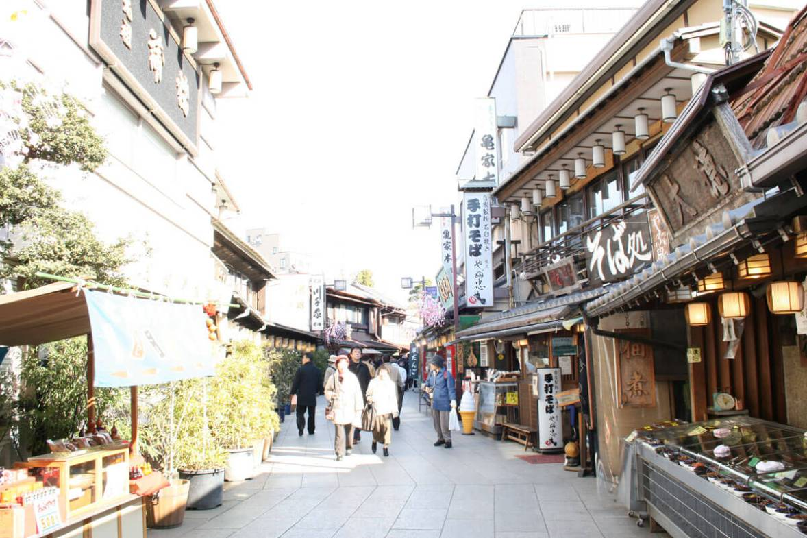Japanese shitamachi shopping street