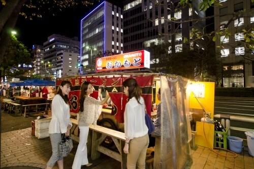 Japanese ramen stand