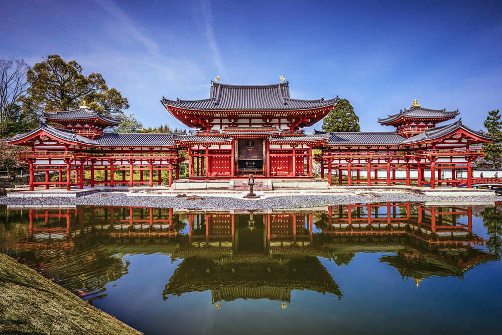 The Phoenix Hall of Byodoin Temple, which can also be found on the back of every 10 yen coin!