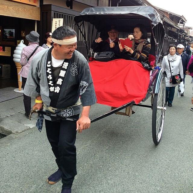 Rickshaw ride in Takayama old town