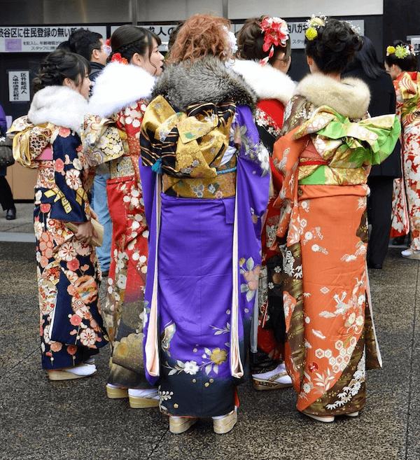 various kimono types