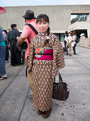 Combine kimono with boots instead of sandals
