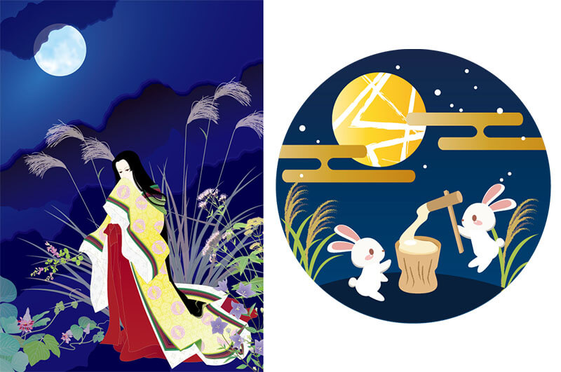 moon legend and tsukimi in Japan