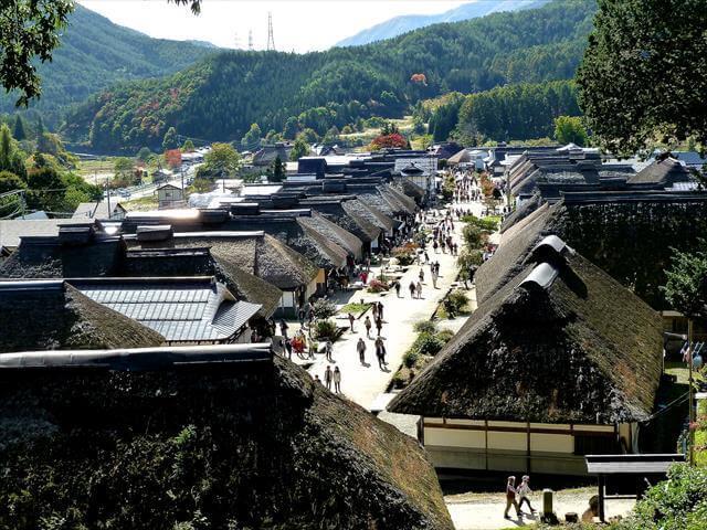 The main street of Ouchi-Juku
