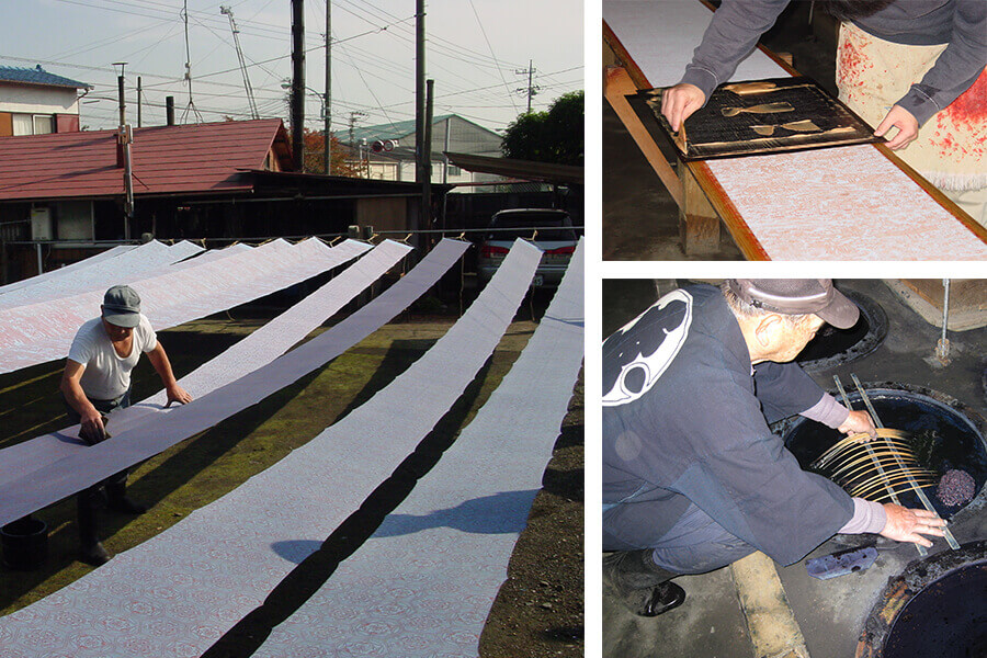 Japanese dyeing methods yukata