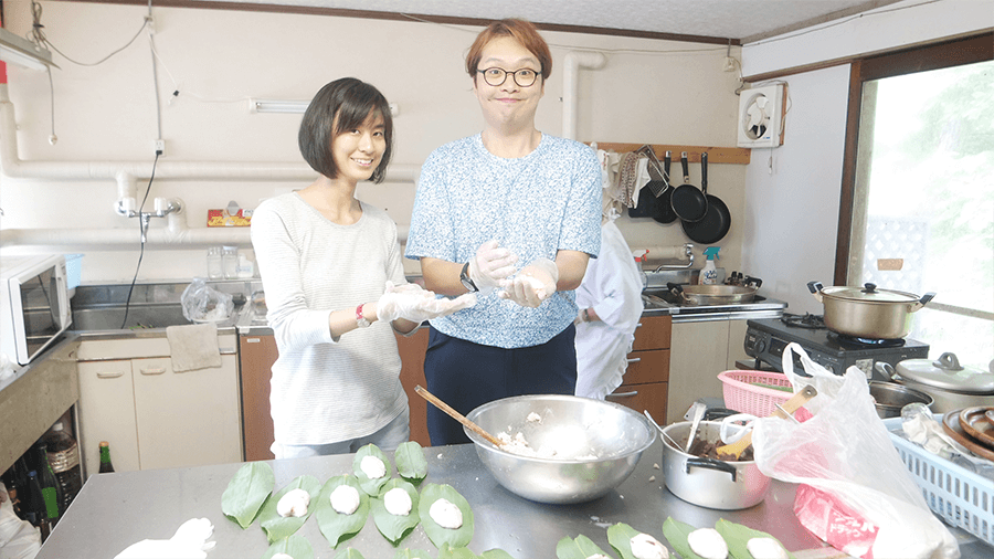 making-wagashi-experience-in-yamagata-minshuku