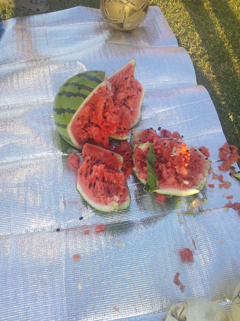 smashed Japanese watermelon