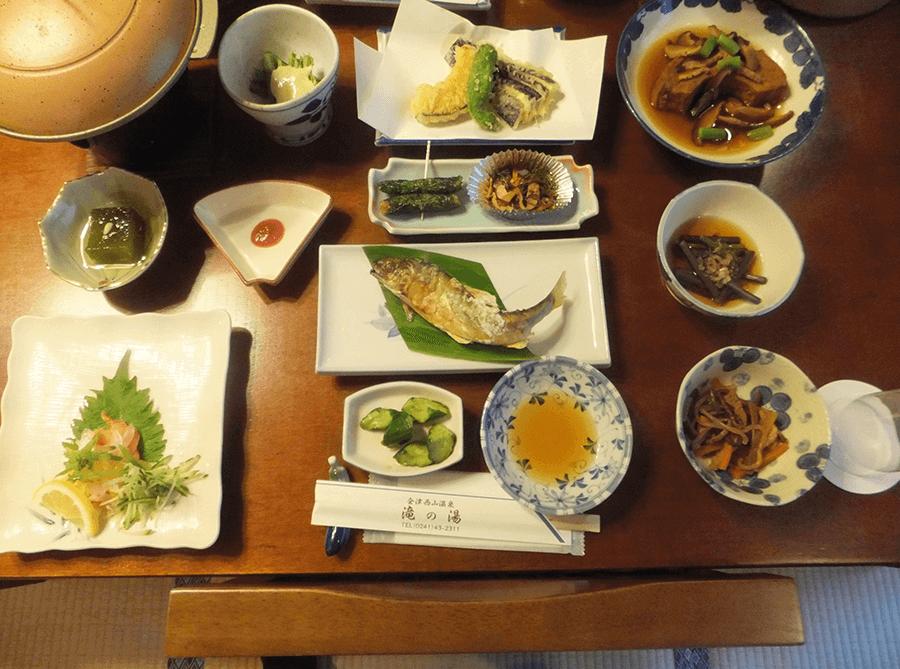 ryokan-dinner-at-nishiyama-onsen-fukushima