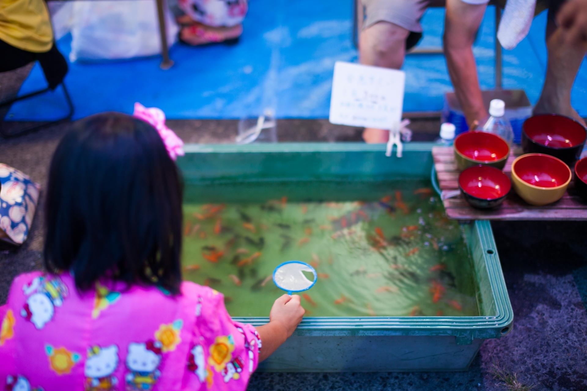 japanese matsuri game goldfish