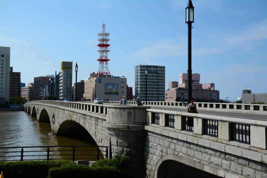 Bandai Bridge in Niigata