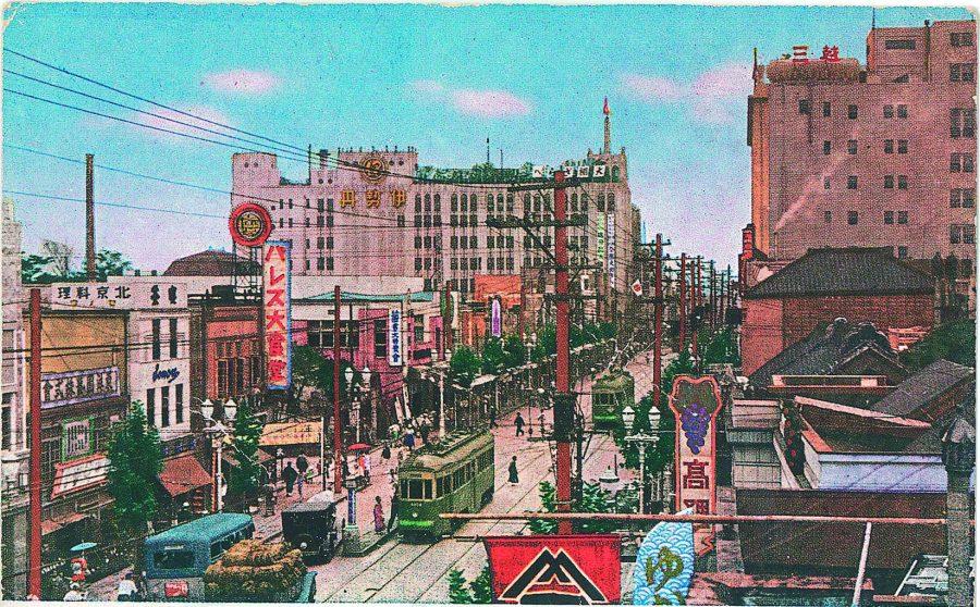 Shinjuku's main street circa 1935