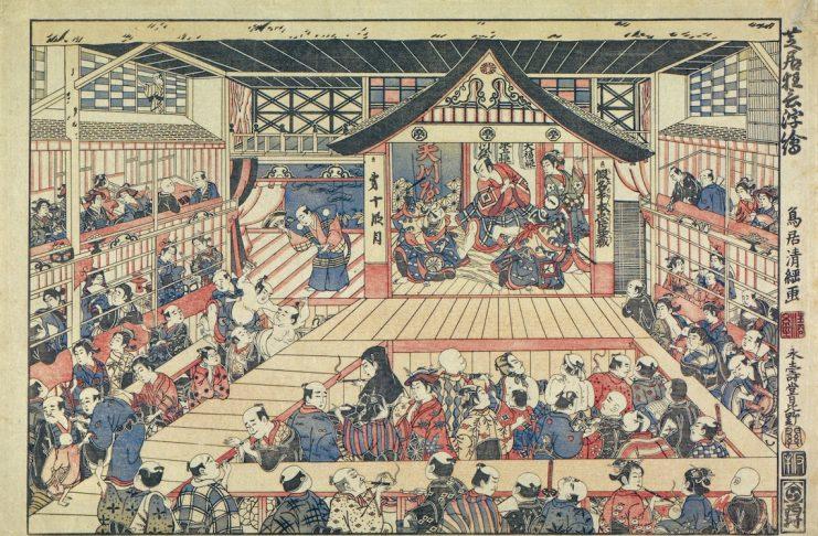 Shibai Kyogen Uki-e © The Tsubouchi Memorial Theatre Museum, Waseda University