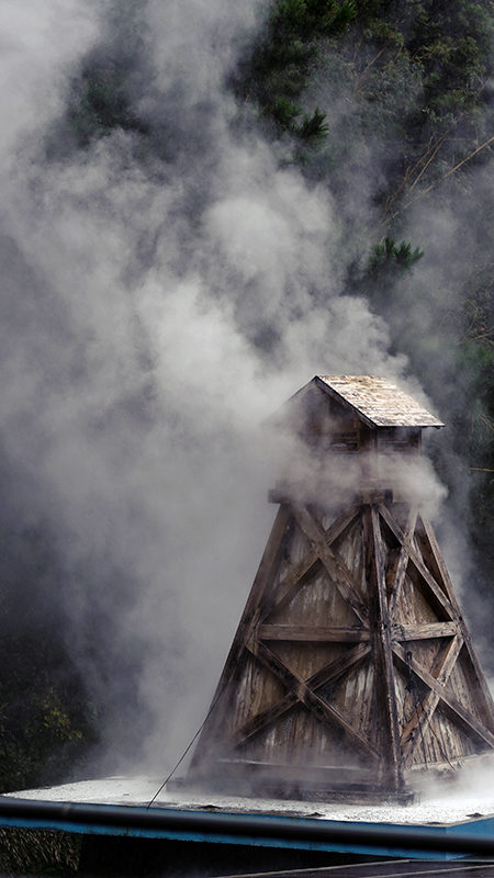 Higashi-Izu: Japan's forgotten paradise - An old wooden drilling tower : Onsen