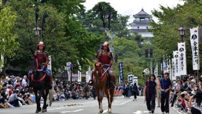 Aizu Matsuri Aizu Hanko Gyoretsu (Aizu Domain Lord's Procession)