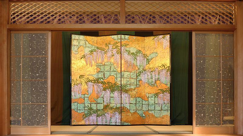 """four panels folding screen """"Mifuji"""""""