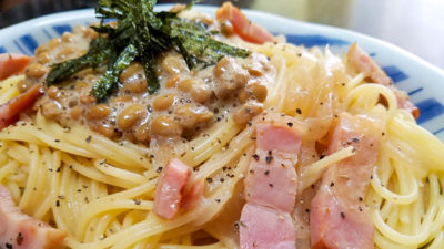 Nattō with Pasta