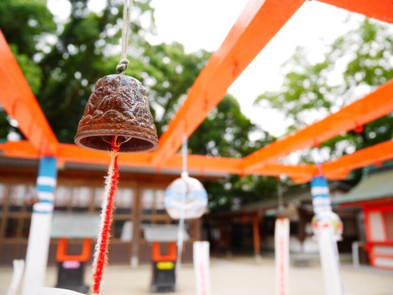 Japanese shrine wind chime