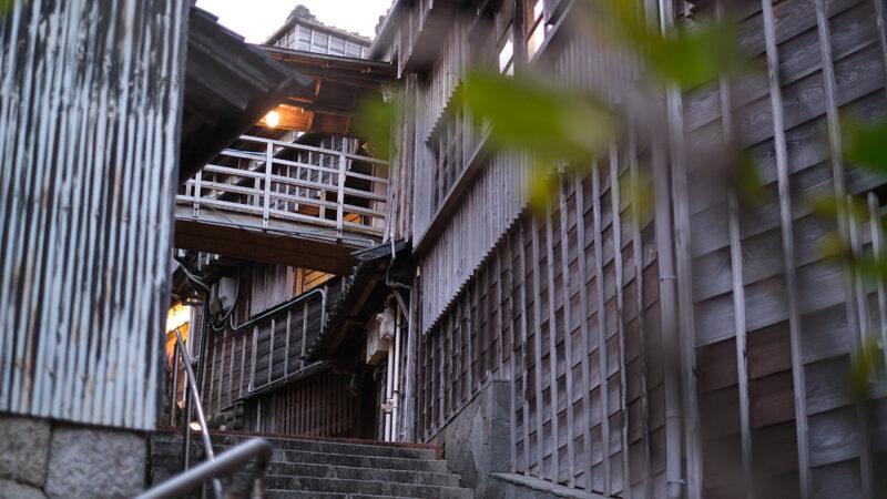 wooden ryokan building